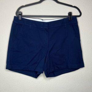 J. CREW Navy Blue Solid Chino Shorts 10